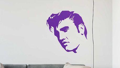 GLIX Elvis - samolepka na zeď Fialová 50 x 50 cm