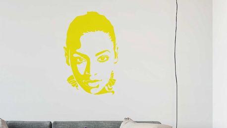 GLIX Beyoncé - samolepka na zeď Žlutá 65 x 100 cm