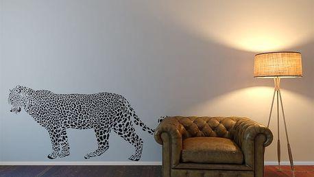 Gepard - samolepka na zeď Černá 100 x 50 cm