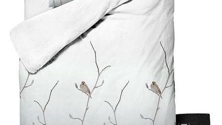 Povlečení Dreamhouse Bird Tree White, 140x220cm - doprava zdarma!