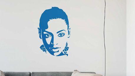 GLIX Beyoncé - samolepka na zeď Ledově modrá 40 x 60 cm
