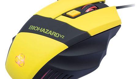 CONNECT IT Biohazard V2 myš, žlutá - CI-464