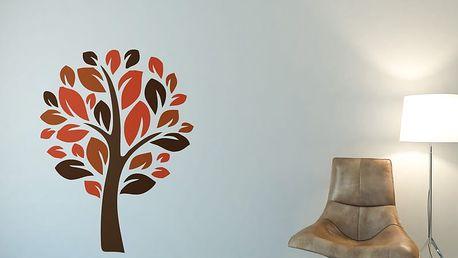 GLIX Strom III. - samolepka na zeď Oranžová 50 x 70 cm