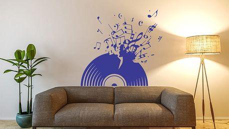 GLIX Vinylová deska - samolepka na zeď Modrá 50 x 45 cm