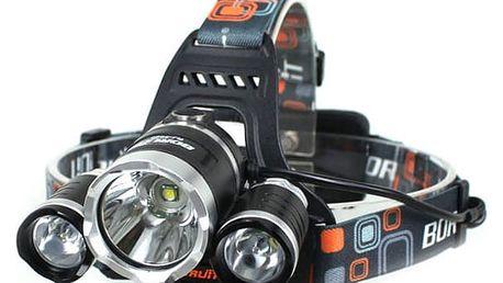 LED čelovka BORUIT RJ-3000 - Voděodolná