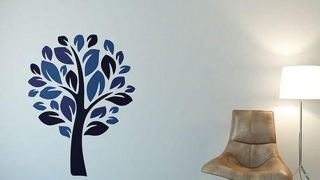 GLIX Strom III. - samolepka na zeď Modrá 100 x 130 cm