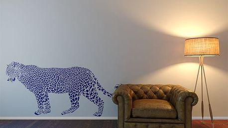 Gepard - samolepka na zeď Modrá 130 x 75 cm