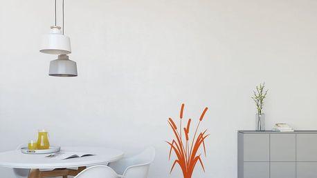 GLIX Rákos - samolepka na zeď Oranžová 40 x 65 cm