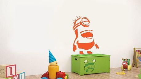 GLIX Mimoň - samolepka na zeď Oranžová 70 x 100 cm