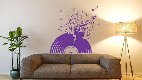 GLIX Vinylová deska - samolepka na zeď Fialová 75 x 70 cm