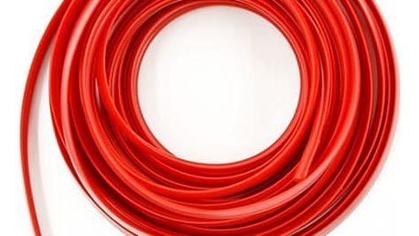 Interiérový proužek pro dekoraci - 5 m - červená barva - dodání do 2 dnů