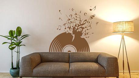 GLIX Vinylová deska - samolepka na zeď Hnědá 100 x 90 cm