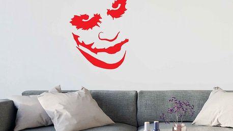 GLIX Joker - samolepka na zeď Světle červená 35 x 45 cm