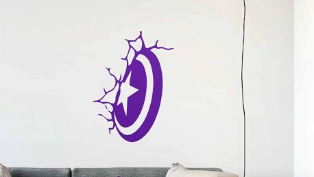 GLIX Captain America - samolepka na zeď Fialová 40 x 55 cm