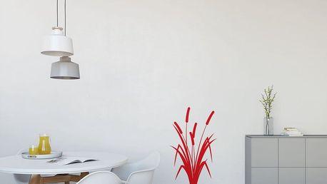 GLIX Rákos - samolepka na zeď Světle červená 40 x 65 cm