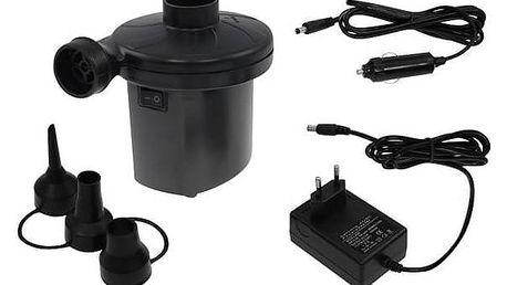 Pumpička LIFEFIT na 12V/220V k nafukovací matraci černá