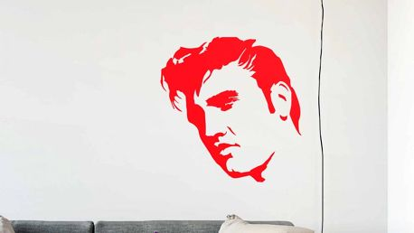 GLIX Elvis - samolepka na zeď Světle červená 100 x 100 cm