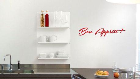 GLIX Bon Appétit - samolepka na zeď Světle červená 75 x 15 cm