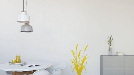 GLIX Rákos - samolepka na zeď Žlutá 60 x 100 cm