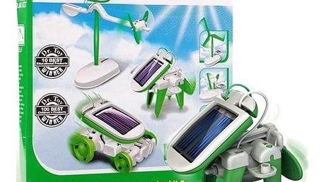 Solar Robot Kits 6 v 1- zelený