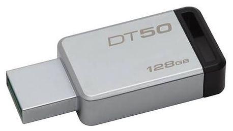 USB Flash Kingston DataTraveler 50 128GB (DT50/128GB) černý/kovový