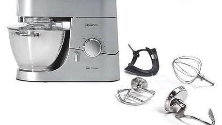 Kuchyňský robot Kenwood Chef Titanium KMC050 stříbrný + Doprava zdarma