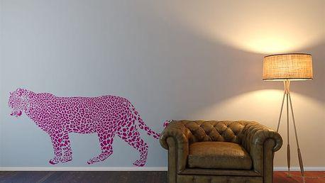 Gepard - samolepka na zeď Růžová 100 x 50 cm
