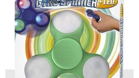 Spinner Alltoys Crazy Gyro světelný (modrá, zelená, černá a bílá)