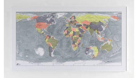 Magnetická mapa světa The Future Mapping Company Classic World Map, 130x72cm - doprava zdarma!