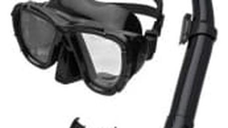 SPOKEY Cayman Junior černá sada potápěčských brýlí a šnorchlu