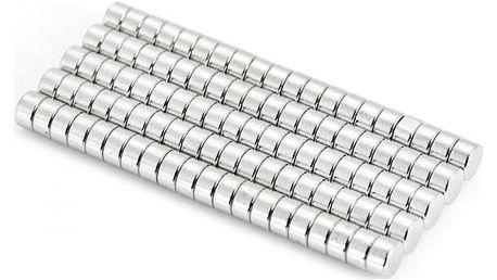 Neodymové magnety 5 x 3 mm - 100 ks