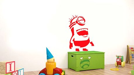 GLIX Mimoň - samolepka na zeď Světle červená 20 x 30 cm