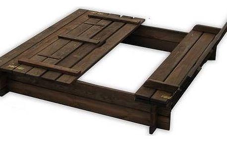Pískoviště Rojaplast s lavičkami hnědé + Doprava zdarma