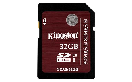 Kingston SDHC 32GB Class 10 UHS-I U3 - SDA3/32GB