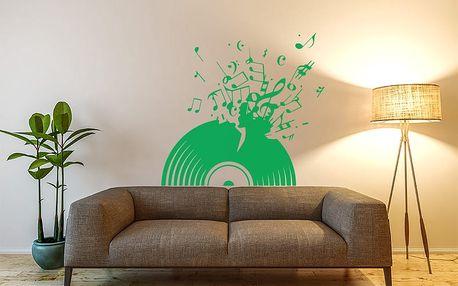 GLIX Vinylová deska - samolepka na zeď Světle zelená 75 x 70 cm