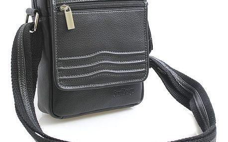 Černá luxusní kožená taška IG713 černá