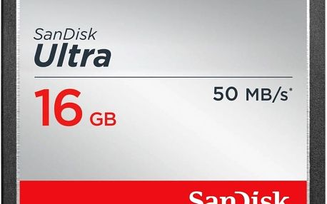 SanDisk CompactFlash Ultra 16GB 50MB/s - SDCFHS-016G-G46