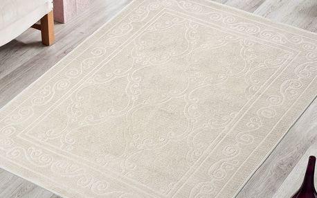 Krémový odolný koberec Vitaus Primrose, 80x150cm - doprava zdarma!
