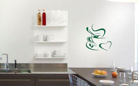 GLIX Káva - samolepka na zeď Světle zelená 30 x 30 cm