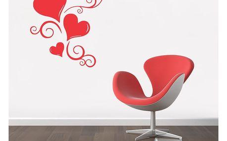 GLIX Ornament - samolepka na zeď Světle červená 50 x 60 cm