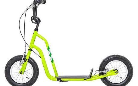 """Koloběžka Yedoo Basic Wzoom 12"""" zelená + Reflexní sada 2 SportTeam (pásek, přívěsek, samolepky) - zelené v hodnotě 58 Kč"""