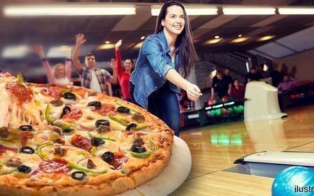Pravá italská pizza a hodina skvělého bowlingu