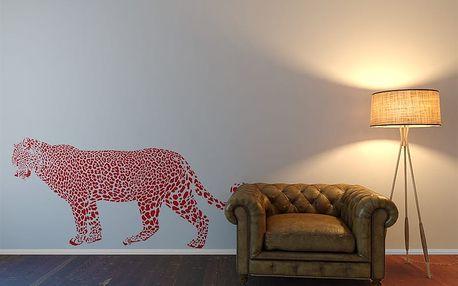 Gepard - samolepka na zeď Světle červená 100 x 50 cm