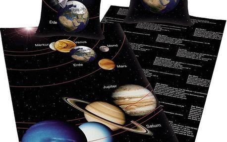Herding Bavlněné povlečení Vesmír, 140 x 200 cm, 70 x 90 cm