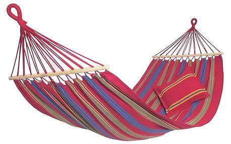 Závěsná houpací síť s tyčemi pro dvě osoby