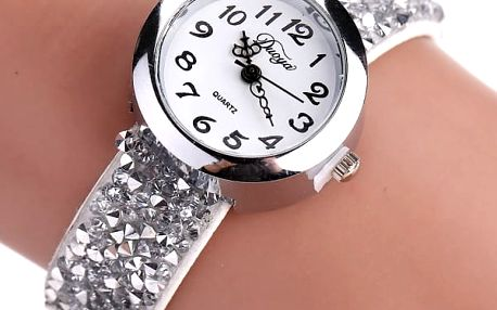Dámské hodinky se třpytivým páskem - dodání do 2 dnů