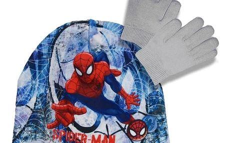 Souprava čepice a rukavice Spiderman - šedá