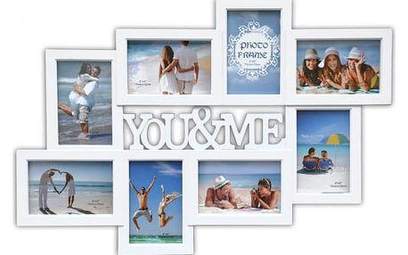 Multi-fotorámeček na 8 fotografií You&Me