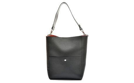 Černá kožená kabelka Anna Luchini Casia - doprava zdarma!