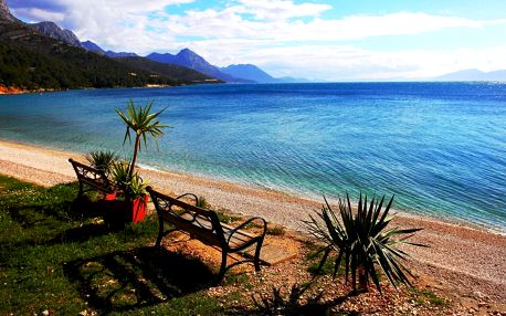Luxusní klimatizovaný KARAVAN pro 5 osob, Makarská riviéra, Živogoš..., Chorvatsko, vlastní doprava, bez stravy